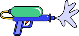 Illustration pistolet à eau