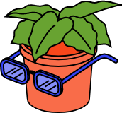 Illustration pot de fleur